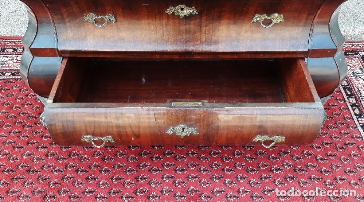 Antigüedades: Bureau antiguo estilo Chippendale. Escritorio secretaire antiguo estilo inglés Mueble buró cajonera. - Foto 17 - 178391765