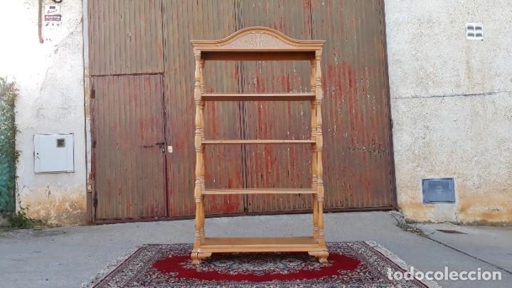 Antigüedades: Mueble auxiliar librero antiguo vintage. Estantería librería antigua. Estantería alacena vintage. - Foto 2 - 178392840