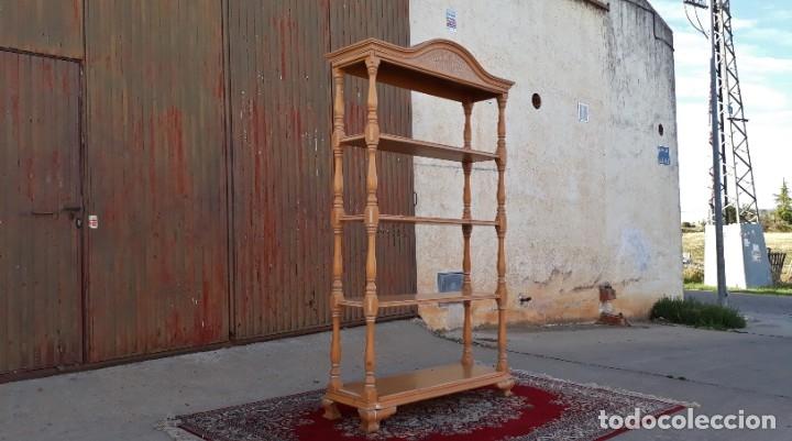 Antigüedades: Mueble auxiliar librero antiguo vintage. Estantería librería antigua. Estantería alacena vintage. - Foto 4 - 178392840