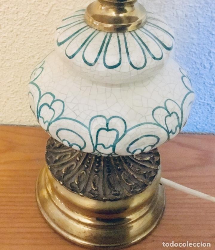 Antigüedades: Pareja de lampas tipo quinque - Foto 4 - 178404390