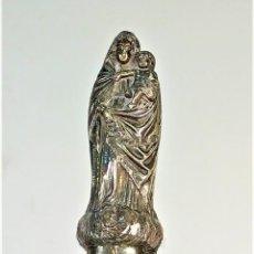 Antigüedades: VIRGEN DEL PILAR. PLATA CINCELADA. CON PUNZONES. ESPAÑA. XVIII-XIX. Lote 178435348
