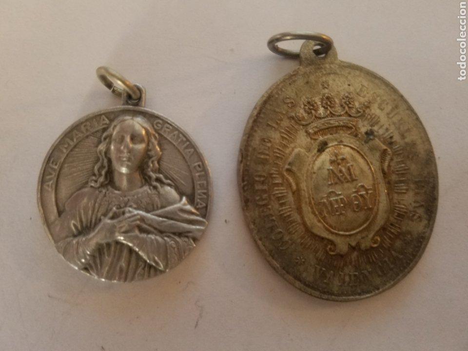 Antigüedades: Lote de 6 medallas religiosas. - Foto 4 - 178457355