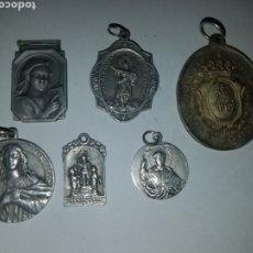 Antigüedades: LOTE DE 6 MEDALLAS RELIGIOSAS.. Lote 178457355