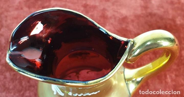Antigüedades: JUEGO DE CAFÉ. CRISTAL DE BOHEMIA. DETALLES EN DORADO. PINTADO A MANO. SIGLO XX. - Foto 13 - 178556790