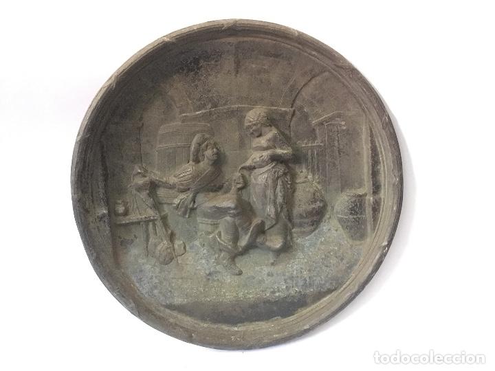 Antigüedades: Pareja de platos antiguos - Foto 2 - 178558410