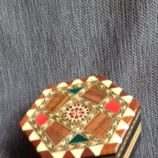 Antigüedades: JOYERO DE MARQUETERIA DE GRANADA. Lote 178561802