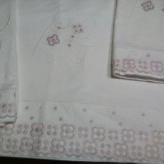 Antigüedades: *SABANA DE ALGODON CON FUNDAS. 2M. (RF: LL-55/*). Lote 178567800