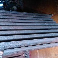 Antigüedades: PAREJA DE MONSTRUOSOS RADIADORES DE 115CMS.DE ALTURA -Y UNOS CIENTO VEINTE KILOS DE PESO- DE 9 MODUL. Lote 178570986