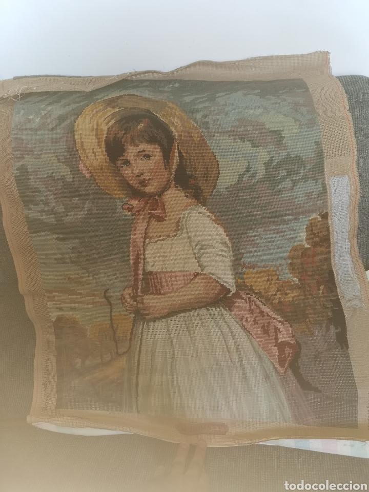 Antigüedades: Precioso cuadro de punto de cruz. Años 50-60 - Foto 2 - 178573820