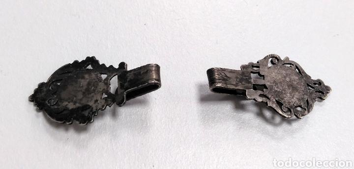 Antigüedades: Hebilla siglo XIX en plata. Dos enganches. Indumentaria tradicional - AC16 - Foto 2 - 178575913