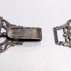 Antigüedades: HEBILLA SIGLO XIX EN PLATA. INDUMENTARIA TRADICIONAL.. Lote 178576048