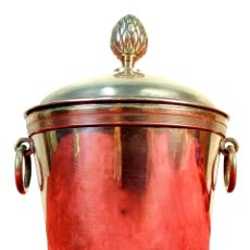 Antigüedades: POTICHE. PLATA CINCELADA. CON PUNZONES. EUROPA. ESTILO LUIS XVI. SIGLO XIX. Lote 178577891