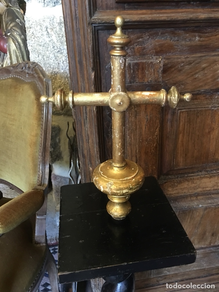 MUY ANTIGUA CRUZ PROCESIONAL XVIII (Antigüedades - Religiosas - Cruces Antiguas)