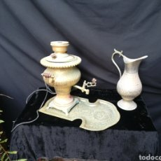 Antigüedades: VIEJO CONJUNTO DE SAMOVAR RUSO PARA RESTAURAR O DECORACIÓN. Lote 178583608