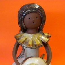 Antigüedades: FIGURA ESCULTURA CERAMICA ELISA. Lote 178595883