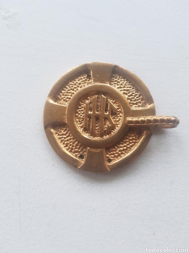 HEBILLA DE CAPA PLUVIAL SAN SEBASTIAN S.XIX (Antigüedades - Religiosas - Capas Pluviales Antiguas)