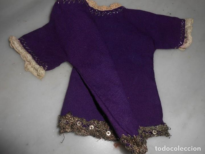 Vestido Antiguo Para Niño Jesus De Color Morado