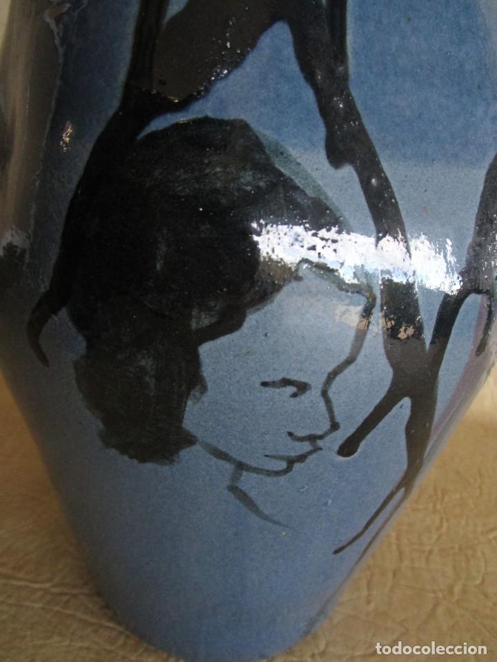 Antigüedades: jarron ceramica catalana firmado buxo 38 cm - Foto 5 - 43652666