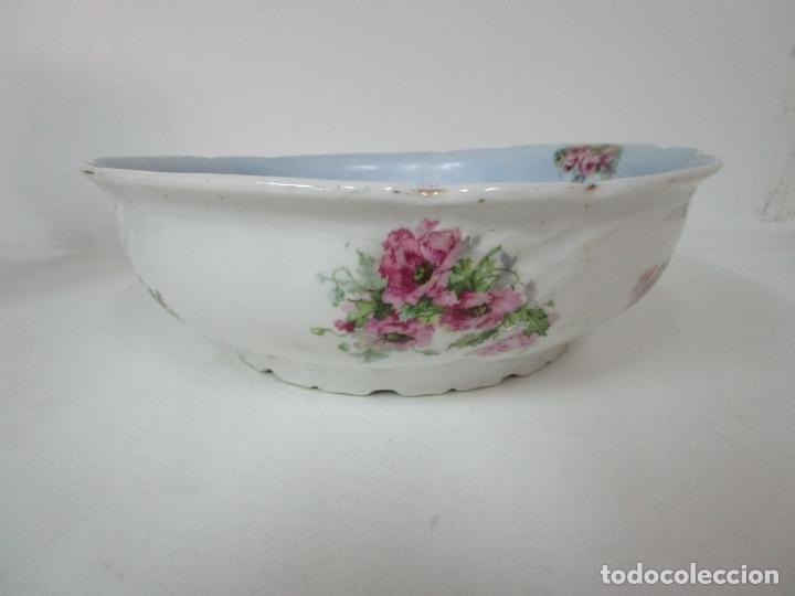 Antigüedades: Precioso Aguamanil Modernista - Palangana y Jarra - Porcelana Esmaltada - Foto 5 - 178609373