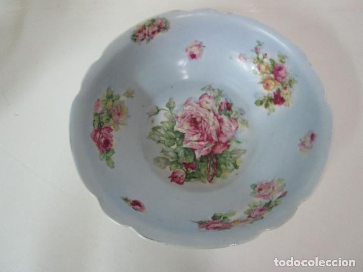 Antigüedades: Precioso Aguamanil Modernista - Palangana y Jarra - Porcelana Esmaltada - Foto 8 - 178609373