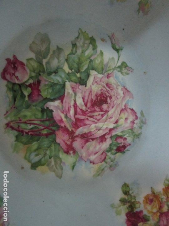 Antigüedades: Precioso Aguamanil Modernista - Palangana y Jarra - Porcelana Esmaltada - Foto 9 - 178609373