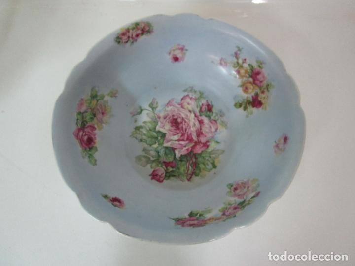 Antigüedades: Precioso Aguamanil Modernista - Palangana y Jarra - Porcelana Esmaltada - Foto 11 - 178609373