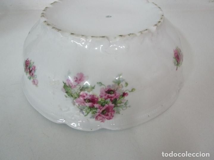 Antigüedades: Precioso Aguamanil Modernista - Palangana y Jarra - Porcelana Esmaltada - Foto 13 - 178609373