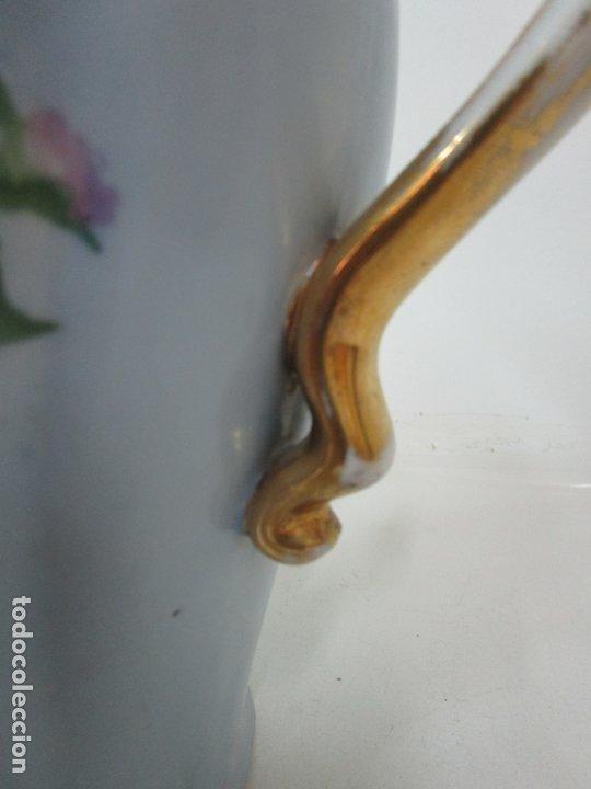 Antigüedades: Precioso Aguamanil Modernista - Palangana y Jarra - Porcelana Esmaltada - Foto 17 - 178609373