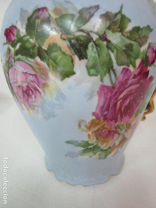 Antigüedades: Precioso Aguamanil Modernista - Palangana y Jarra - Porcelana Esmaltada - Foto 19 - 178609373