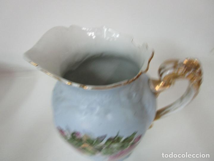Antigüedades: Precioso Aguamanil Modernista - Palangana y Jarra - Porcelana Esmaltada - Foto 21 - 178609373
