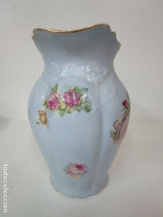 Antigüedades: Precioso Aguamanil Modernista - Palangana y Jarra - Porcelana Esmaltada - Foto 22 - 178609373