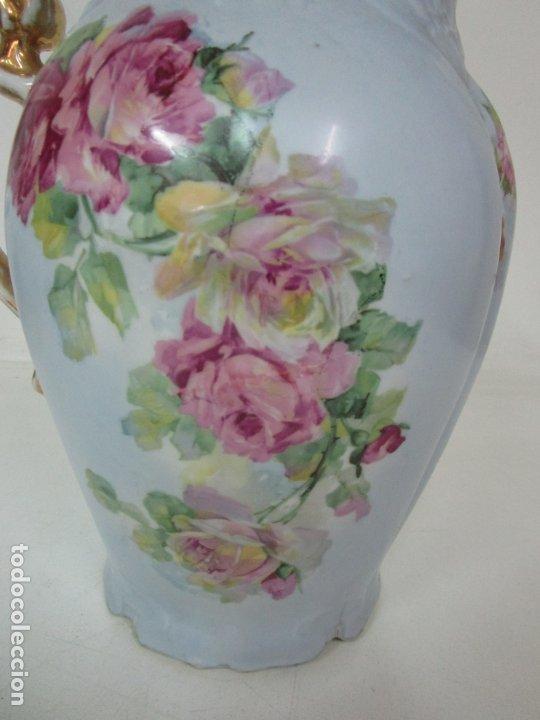 Antigüedades: Precioso Aguamanil Modernista - Palangana y Jarra - Porcelana Esmaltada - Foto 25 - 178609373