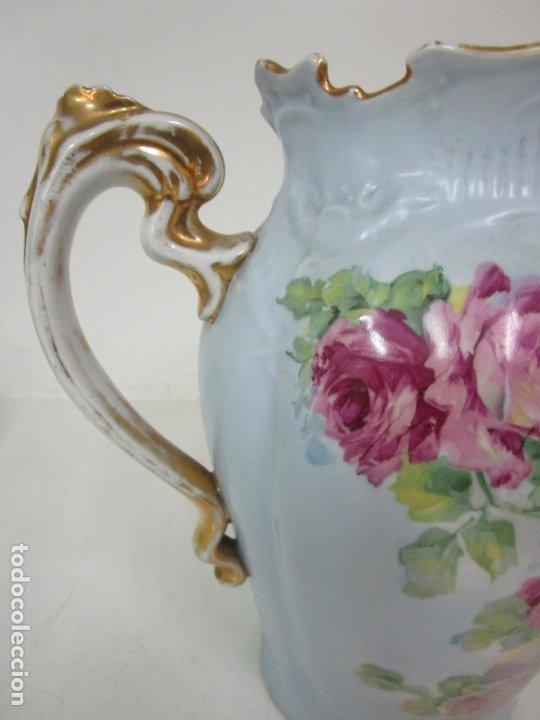 Antigüedades: Precioso Aguamanil Modernista - Palangana y Jarra - Porcelana Esmaltada - Foto 27 - 178609373