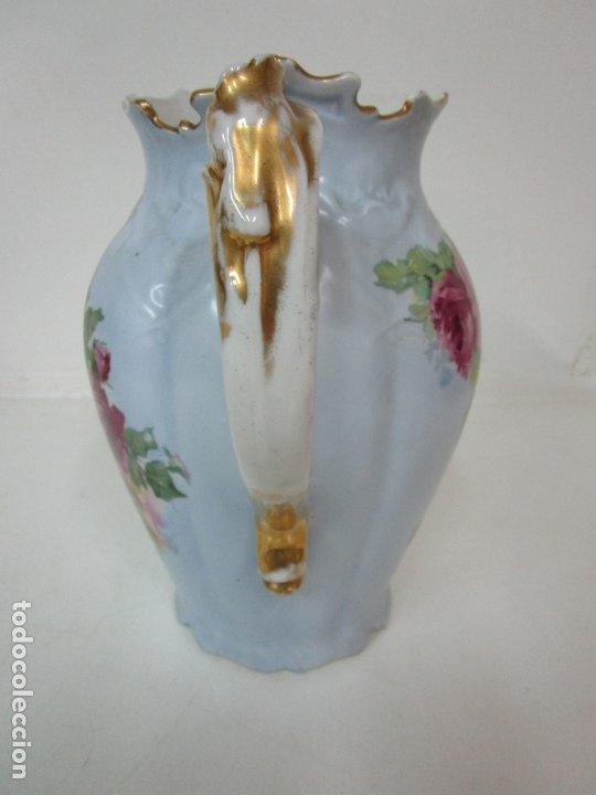 Antigüedades: Precioso Aguamanil Modernista - Palangana y Jarra - Porcelana Esmaltada - Foto 28 - 178609373