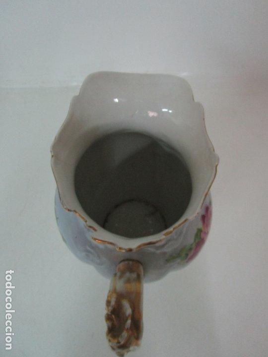 Antigüedades: Precioso Aguamanil Modernista - Palangana y Jarra - Porcelana Esmaltada - Foto 31 - 178609373