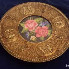 Antigüedades: PLATO DE BRONCE FUNDICIÓN. Lote 178626231
