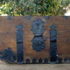 Antigüedades: MEDIA FANEGA, CON SU RASERA, BUEN ESTADO GENERAL BONITA. Lote 178648851