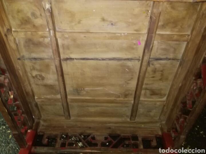Antigüedades: ANTIGUA MESA CHINA. MADERA LACADA. ENVIO INCLUIDO EN EL PRECIO. - Foto 5 - 178657792