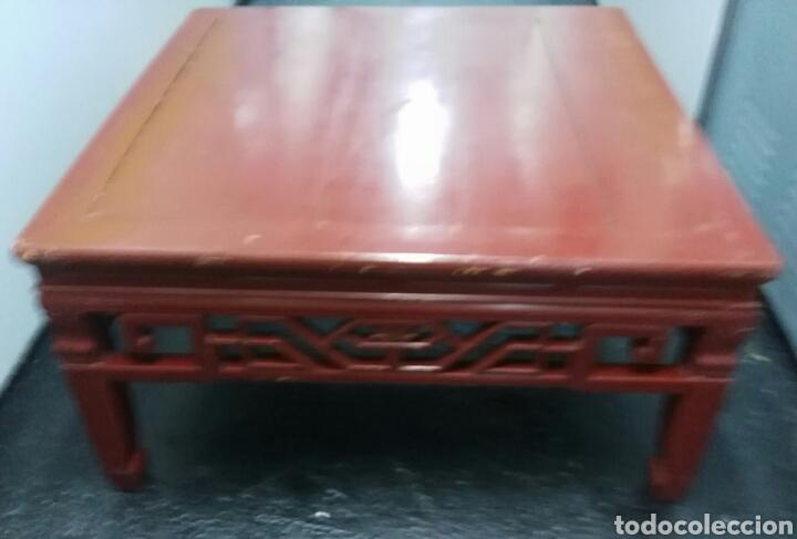Antigüedades: ANTIGUA MESA CHINA. MADERA LACADA. ENVIO INCLUIDO EN EL PRECIO. - Foto 11 - 178657792