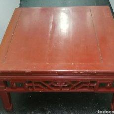 Antigüedades: ANTIGUA MESA CHINA. MADERA LACADA. ENVIO INCLUIDO EN EL PRECIO.. Lote 178657792