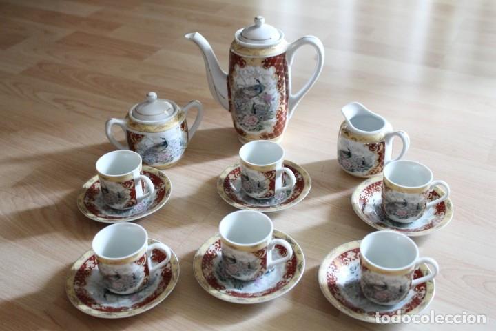 JUEGO CAFÉ O TÉ PORCELANA JAPONESA YUHKI TANAKA (Antigüedades - Porcelana y Cerámica - Japón)