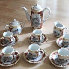 Antigüedades: JUEGO CAFÉ O TÉ PORCELANA JAPONESA YUHKI TANAKA. Lote 178664558