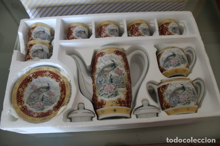 Antigüedades: JUEGO CAFÉ O TÉ PORCELANA JAPONESA YUHKI TANAKA - Foto 2 - 178664558