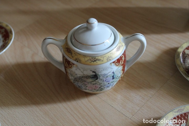 Antigüedades: JUEGO CAFÉ O TÉ PORCELANA JAPONESA YUHKI TANAKA - Foto 3 - 178664558