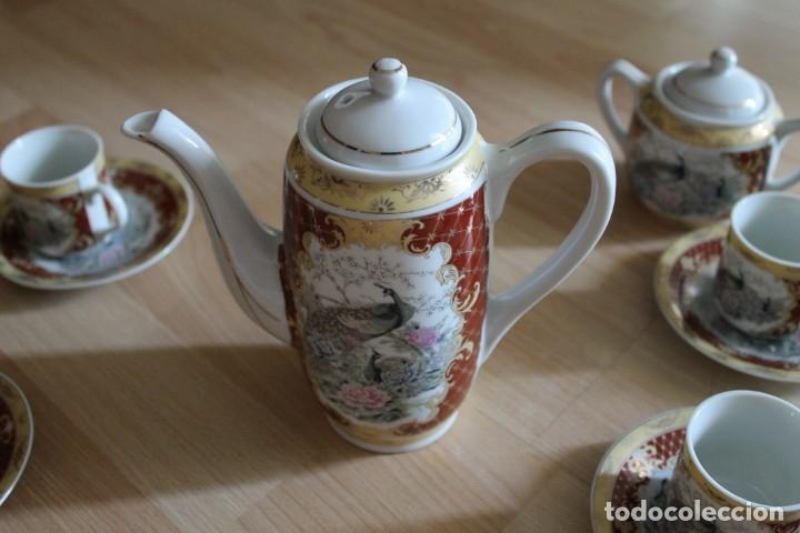 Antigüedades: JUEGO CAFÉ O TÉ PORCELANA JAPONESA YUHKI TANAKA - Foto 4 - 178664558