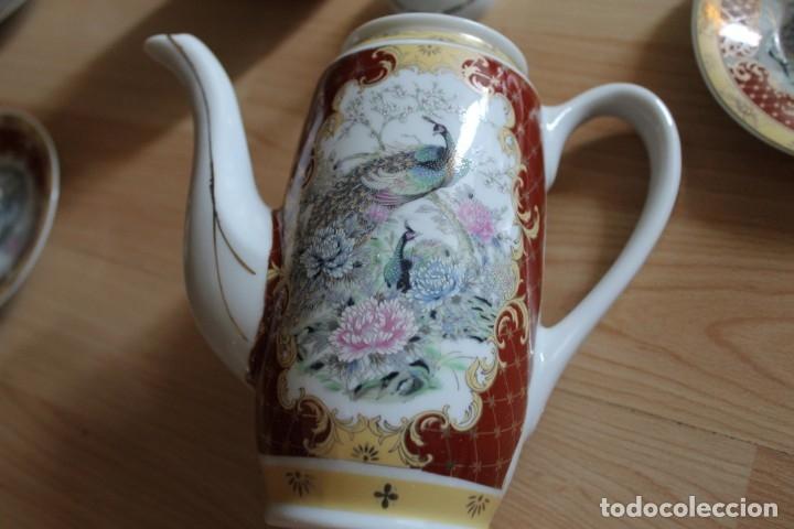 Antigüedades: JUEGO CAFÉ O TÉ PORCELANA JAPONESA YUHKI TANAKA - Foto 8 - 178664558