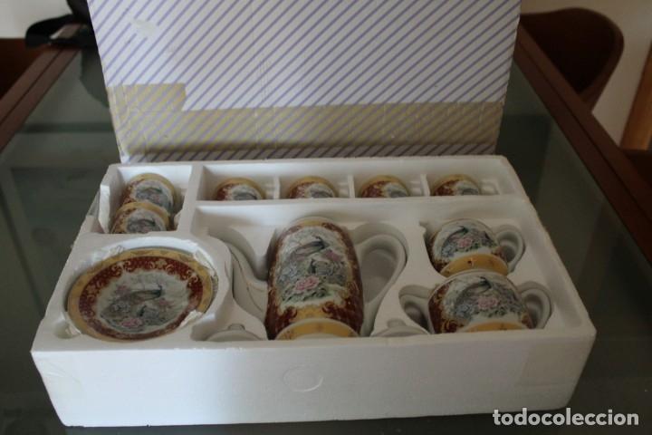 Antigüedades: JUEGO CAFÉ O TÉ PORCELANA JAPONESA YUHKI TANAKA - Foto 12 - 178664558