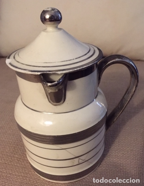 LECHERA INGLESA SIGLO XIX (Antigüedades - Porcelanas y Cerámicas - Inglesa, Bristol y Otros)