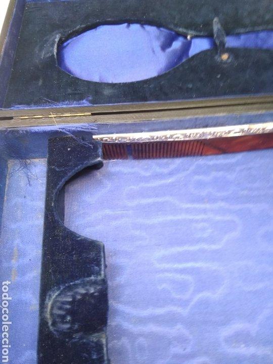 Antigüedades: Juego de tocador Set de 6 piezas, plata de ley siglo XIX - Foto 4 - 178668587
