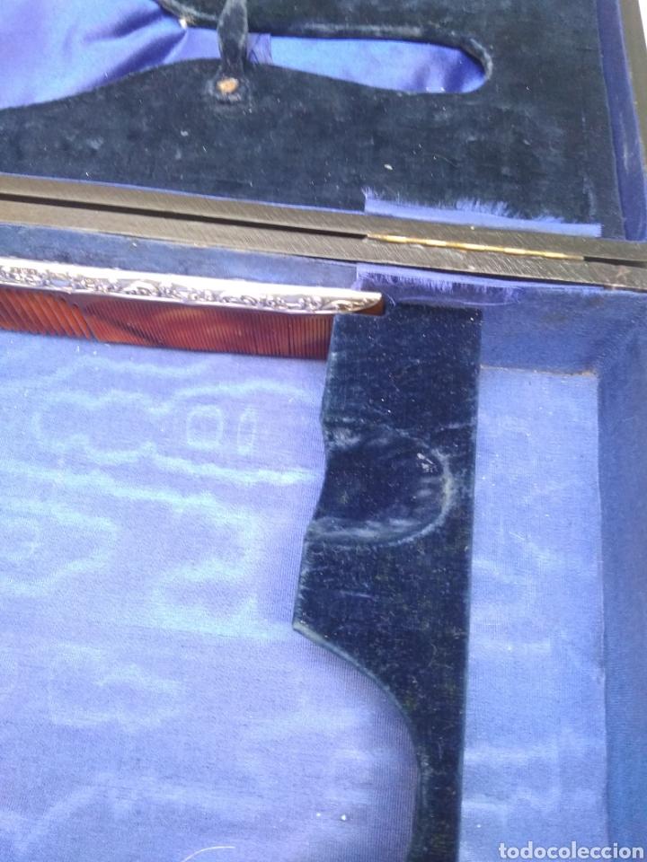 Antigüedades: Juego de tocador Set de 6 piezas, plata de ley siglo XIX - Foto 11 - 178668587